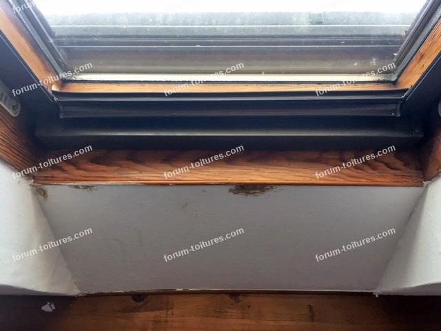 condensation au dessus des fenêtres de toit