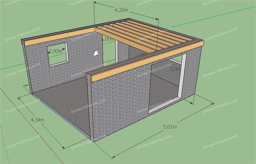 dimensionnement solivage toit plat