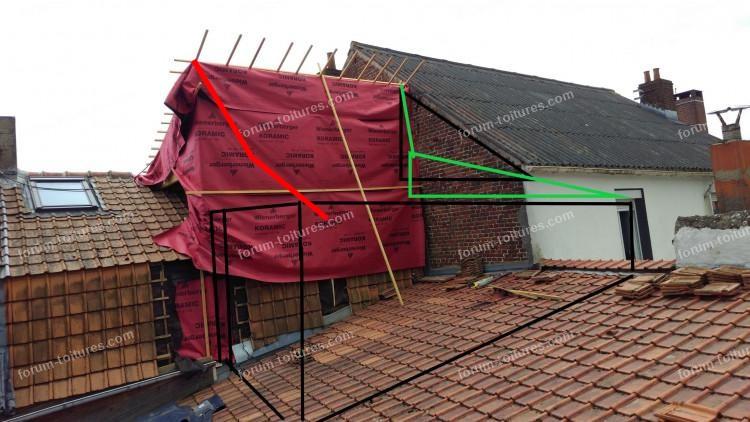 réalisation extension toiture mitoyenne