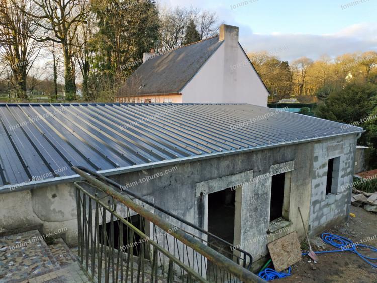 Conseils isolation mettre sous une toiture en bac acier isolé de 40mm | Questions Réponses Forum ...