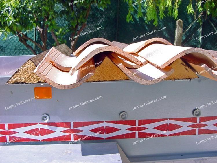 Forum toitures tuiles pose tuiles canal pos es sur des for Poser des tuiles canal