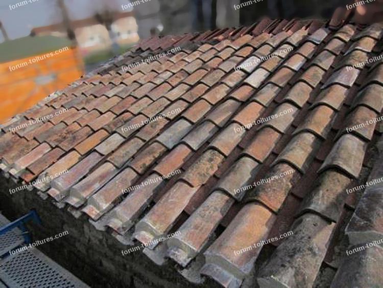 problème toiture tuiles descendent